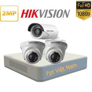 Trọn bộ 3 mắt camera hikvision 2.0MP