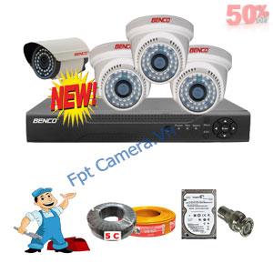 Lắp Đặt Trọn Bộ 4 Camera Giá Rẻ