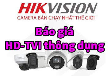 Báo giá bán camera Hikvision 2MP thông dụng