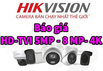 Camera HIKVISION | Báo giá Camera Hd-Tvi Hikvision 5MP - 8MP - 4K