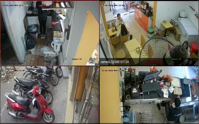 Lắp đặt camera tại hà nội cửa hàng Toco Toco