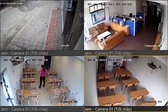 lắp đặt camera cho lớp học tại trung tâm
