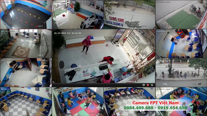 Lắp đặt trong bộ camera hikvision cho lớp học