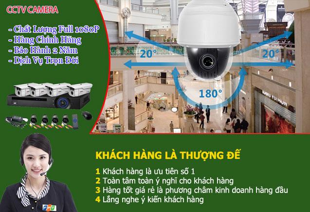 Phương châm dịch vụ lắp đặt camera quan sát tại FPT Việt Nam.