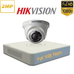 lắp đặt 1 camera hikvision 2MP Full HD 1080P