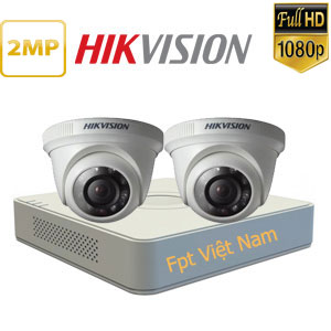 Lắp đặt 2 camera hikvision 2MP Full HD 1080P