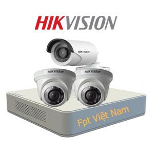 Lắp đặt 3 camera Hikvision giá rẻ 1.0MP
