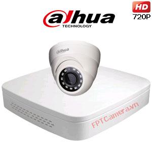 Lắp đặt trọn bộ 1 camera Dahua giá rẻ 1MP